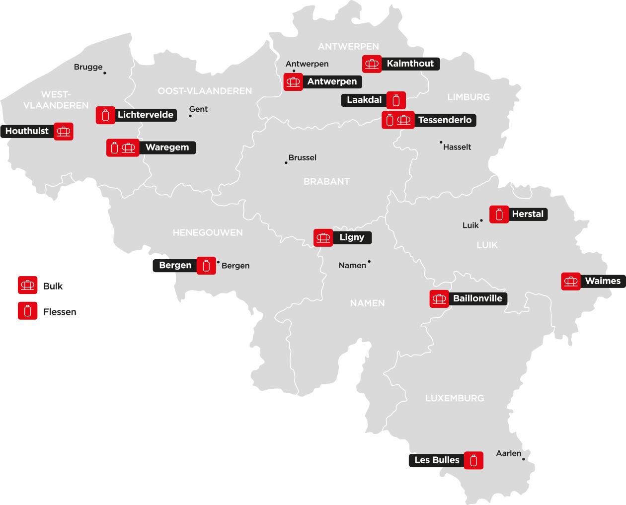 Kaart van België