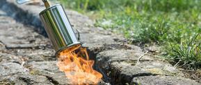 bouteilles de gaz - désherbage thermique