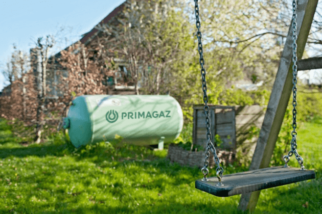 Chauffage au gaz propane avec une citerne aérienne
